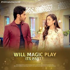 We sense a rift between but we trust the magic more! Mon-Fri, only on StarPlus and Hotstar:… Cute Couple Songs, He Jin, Aditi Sharma, Cute Celebrities, Cute Couples, Allah, Trust, Magic, Actors