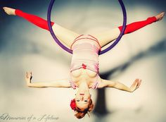 melissa coffey - aerial hoop  Learned this today in my first lyra class. My muscles hate me.