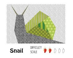 Snail paper pieced quilt pattern in PDF by ProtoQuilt on Etsy, $2.00