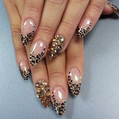 51 Ideas Nails Design Frances Animal Prints For 2019 Sexy Nails, Cute Nails, Pretty Nails, Fabulous Nails, Gorgeous Nails, Leopard Print Nails, Exotic Nails, Luxury Nails, Nagel Gel
