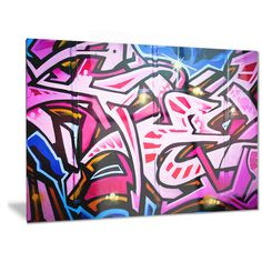 Designart 'Abstract Graffiti Melbourne' Street Art Metal Wall Art