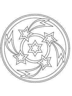 coloring page Mandala Christmas - Mandala Christmas