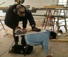 Shop safety. Yeah, it's important... what idiots..