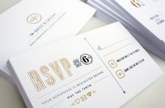 B Wedding Invites by Chad Michael, via Behance