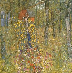 Farm Garden with Crucifix, 1912, Gustav Klimt Size: 110x110 cm Medium: oil on canvas