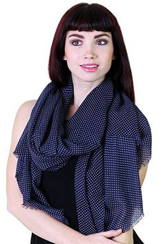 Anika Dali Women's Polka Dots & Stars Printed Scarf and Fashion Shawl Floral Fashion, Fashion Prints, Star Fashion, Women's Fashion, Polka Dot Scarf, Polka Dots, Designer Scarves, Fashion Scarves, Star Print