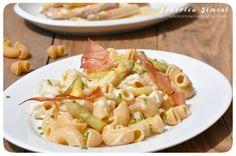 La cucina di Federica: Pasta integrale in crema di burrata e asparagi con speck croccante