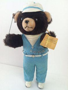 Vintage Plush Teddy Bear Newport Beach C C Country Club Golf Col George Rare
