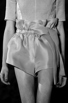 Chic shorts with gathered waistband; fashion details // 3.1 Phillip Lim Spring 2016
