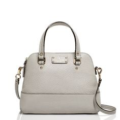 Kate Spade New York Grove Court Maise Shale Leather Tote Satchel Handbag Kate Spade Handbags, Kate Spade Purse, Satchel Handbags, Chanel Handbags, Fashion Handbags, Fashion Bags, Women's Fashion, Leather Purses, Leather Handbags