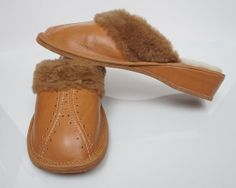 SALE  Women's leather slippers lined with 100 by TrendingSlippers, $14.99