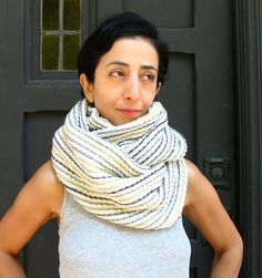 Chunky Textured MultiStriped Large Cowling by speakeasyboutique, $80.00