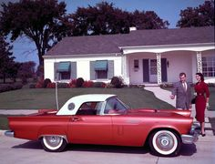 1957 Thunderbird. I would like one of these, but in teal (or baby blue) with white leather interior. ;)