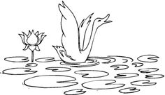Water Lily And Swan coloring page from Water lily category. Select from 24858 printable crafts of cartoons, nature, animals, Bible and many more.
