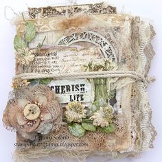 Tiffanys Paper Designs: Canvas Mini Album. Canvas Corp album.