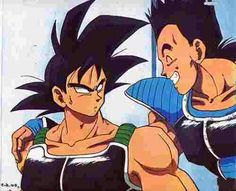 Bardock and his best friend, Toma