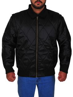 The Ryan Gosling Scorpion Drive Logo Jacket is a classic looking black jacket made from satin with full-length sleeves and a zipper style closure. Ryan Gosling Drive, Scorpion, Black Fabric, Rib Knit, Shirt Style, Bomber Jacket, Winter Jackets, Celebs, Sleeves