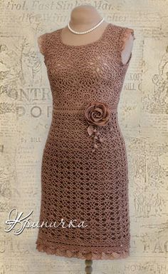 Have you made yourself a crochet dress before? Crochet dresses can be fun and flirty, or prim and proper, at any age! We're turning the heat up on our style for the warmer months with a cool collection of crochet dresses. Beau Crochet, Crochet Lace, Crochet Books, Crochet Stitch, Crochet Skirts, Crochet Clothes, Crochet Vintage, Crochet Wedding, Crochet Woman