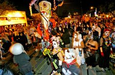 Tucson's All Souls Procession. I WILL join this year. Want to make a lantern for my mother.