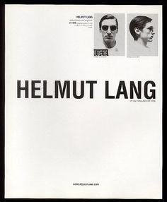 Optical frames and sunglasses, Helmut Lang, 1999