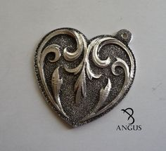 Heart Ring, Brooch, Rings, Silver, Jewelry, Jewlery, Jewerly, Brooches, Ring