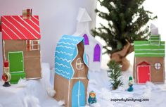 diy christmas village | DIY Christmas Village Craft: From Paper Bags | Inspired by ...