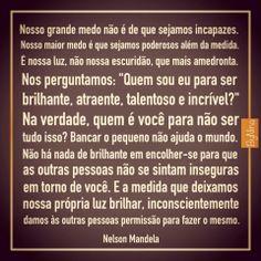 #NelsonMandela  #Medo