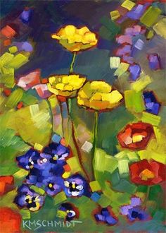 ❀ Blooming Brushwork ❀ - garden and still life flower paintings - Poppies &…