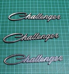 2pc + 1FREE NEW CLASSIC DODGE CHALLENGER  Emblem Badge script  Nameplate Fender #Oracal