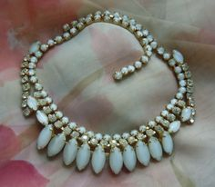 vintage hollywood glam wedding necklace $60
