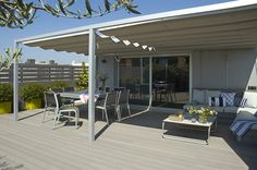 patio Prefabricated Houses, Outdoor Spaces, Outdoor Decor, Shade Structure, Deck With Pergola, The Great Outdoors, Canopy, Shades, Outdoor Structures