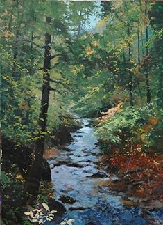 "Fall at Wishing Creek III, 40 x30 by William Jameson Oil ~ 40"" x 30"""