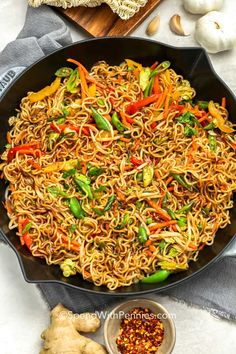 Ramen Stir Fry is quick and easy, great as a meatless monday meal or add in your favorite proteins! Ramen Stir Fry is quick and easy, great as a meatless monday meal or add in your favorite proteins! Easy Beef Stir Fry, Shrimp Stir Fry Easy, Chicken Cashew Stir Fry, Stir Fry Recipes, Noodle Recipes, Beef Recipes, Vegetarian Recipes, Cooking Recipes, Dip Recipes