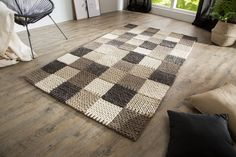 Black Friday, Tapis Design, Scandinavian Design, Living Room Decor, Minimalism, Projects To Try, House Design, Rugs, Knitting