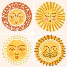 #drawing #illustration Arte Indie, Illustrations, Illustration Art, Posca Art, Plakat Design, Arte Sketchbook, Sun Art, Hippie Art, Clay Crafts