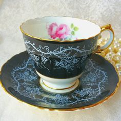 Hey, I found this really awesome Etsy listing at https://www.etsy.com/listing/247230228/royal-cauldon-black-teacup-vintage-tea