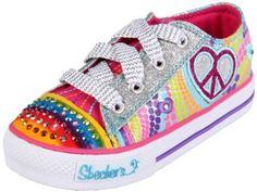 Skechers Twinkle Toes Heart Sparks Light-Up Sneaker (Toddler/Little Kid/Big Kid) Cute Girl Shoes, Girls Shoes, Baby Shoes, Light Up Sneakers, Light Up Shoes, Sneakers Fashion, Shoes Sneakers, Girls Skechers, Children