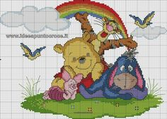 SCHEMES Winnie the Pooh - Ideeën in Cross Stitch