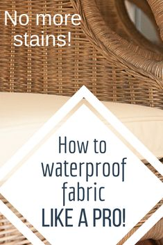 How to waterproof fabric like a pro! Had I known how easy it was, I would have done it sooner! #TwelveOnMain #helpfultips #diy