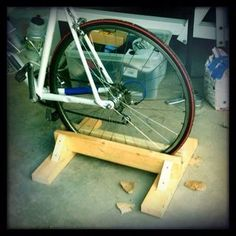 DIY Bike Stand : 7 Steps (with Pictures) - Instructables Bike Stand Diy, Diy Bike Rack, Bike Hanger, Bicycle Rack, Bike Stands, Bike Storage, Shed Storage, Garage Storage, Storage Organization