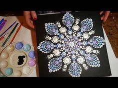 Montage of Elspeth McLean dot painting accompanied by a fun funky tune - YouTube