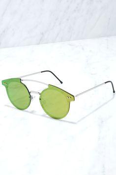 Spitfire Trip Hop Sunglasses - Green Sunglasses - Mirrored Sunglasses - $45.00