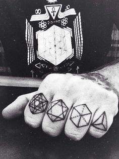 Sacred geometry finger bangers