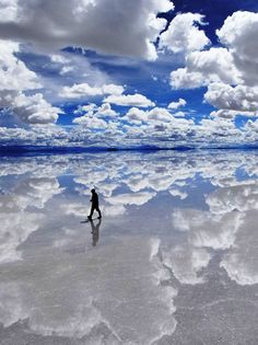 World's Most Beautiful Place, Salar De Uyuni, Bolivia. It is familiar as Mirror of god or Mirror of the sky. Salar de Uyuni, amid the Andes in southwest Boli. Places To Travel, Places To See, Travel Destinations, Hidden Places, Travel Trip, Travel List, Summer Travel, Amazing Destinations, Budget Travel