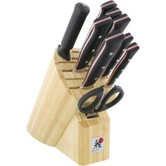 Miyabi Fusion Morimoto Edition Knife Block Set - black w/red accent/stainless steel (Black W/Red Accent/Silver) (High Carbon Stainless Steel)
