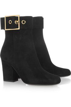 Gucci|Kesha suede ankle boots|NET-A-PORTER.COM