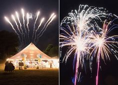 Love the marquee at night with the fireworks over the top - great photo by Elisabeth Millay Photography July Wedding, Wedding Pics, Wedding Engagement, Wedding Things, Wedding Ideas, Marquee Wedding Receptions, Fourth Of July, July 14th, Wedding Fireworks