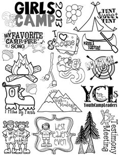 Girls Camp Clip Art