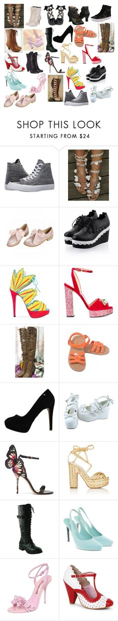 """Girl Shoes 50"" by spellcasters ❤ liked on Polyvore featuring Converse, Amaya, Charlotte Olympia, Gucci, Sophia Webster, Alchimia Di Ballin, Jil Sander, GET LOST, Rebecca Minkoff and Bettie Page"