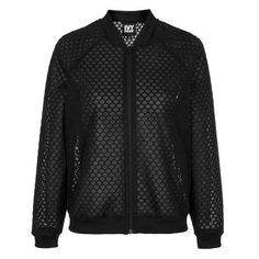 Hexagon Mesh Bomber Jacket by Ivy Park ($71) ❤ liked on Polyvore featuring jackets, ivy park, bomber jacket, beyonce, coats & jackets and topshop